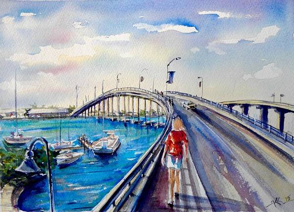 On The Bridge Art Print