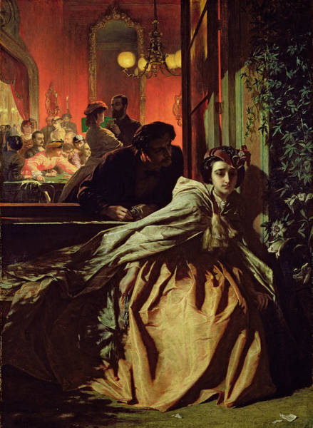 Morality Wall Art - Painting - On The Brink, 1865 by Alfred W. Elmore