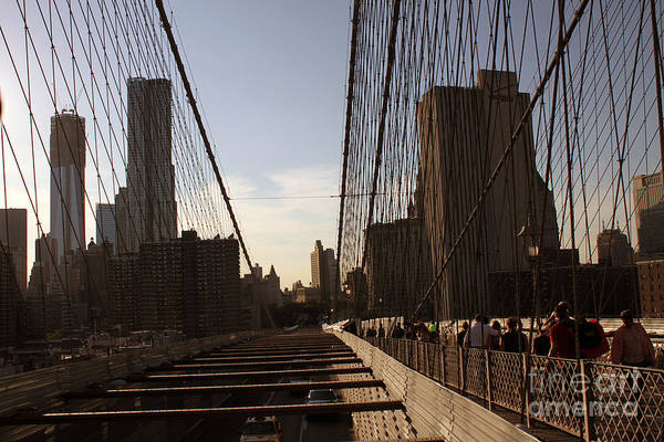 Photograph - On The Brooklyn Bridge by Steven Spak