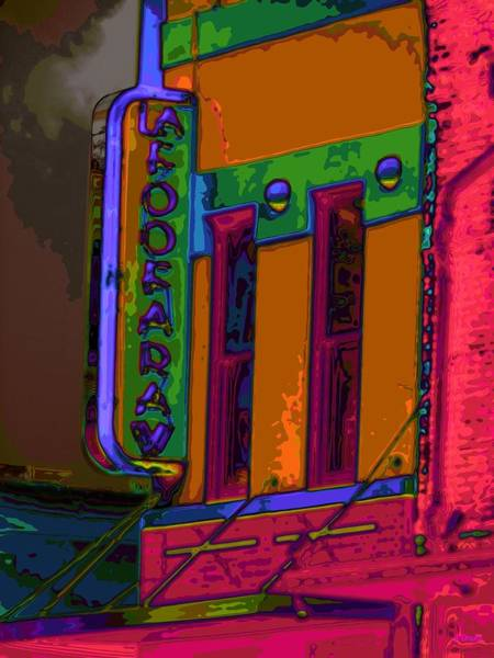 Digital Art - On The Corner Of Color Town by Alec Drake