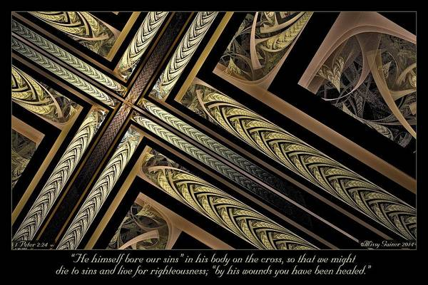 Digital Art - On The Cross by Missy Gainer