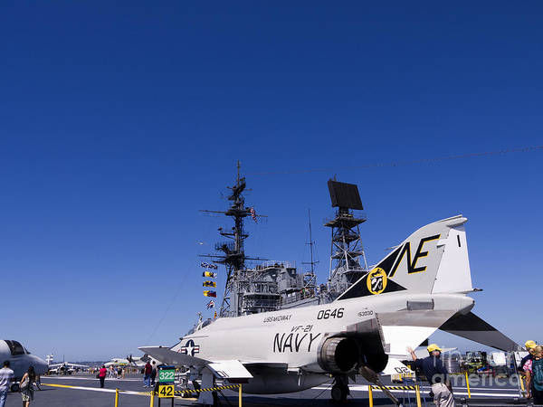 Photograph - On The Deck Of The Carrier by Brenda Kean