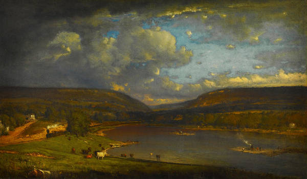 Painting - On The Delaware River by Celestial Images