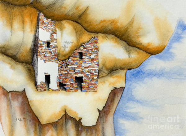 Anasazi Painting - On The Edge by Jerry McElroy