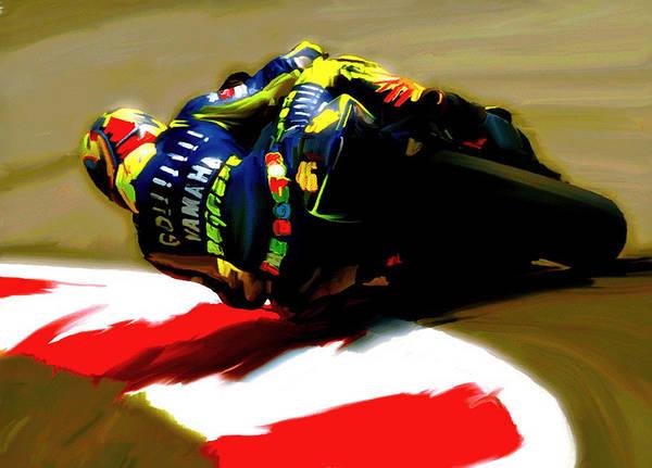 On The Edge Vi Valentino Rossi Art Print
