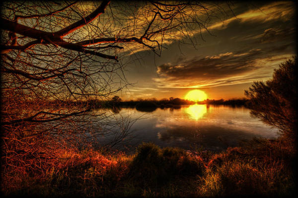 Silhoutte Photograph - On The Horizon by Saija  Lehtonen