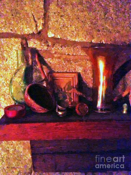 Painting - On The Mantelpiece by RC DeWinter