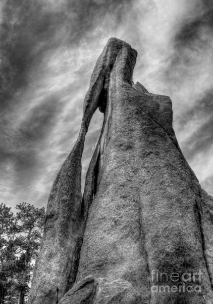 Photograph - On The Needles Highway 3 Bw by Mel Steinhauer