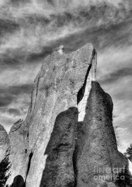 Photograph - On The Needles Highway 4 Bw by Mel Steinhauer