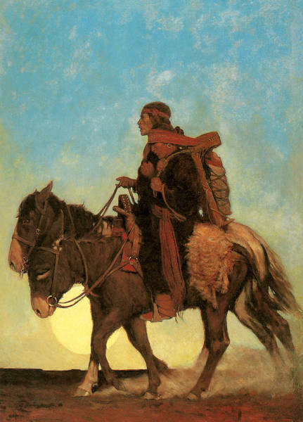 Nc Wall Art - Painting - On The October Trail A Navajo Family by NC Wyeth