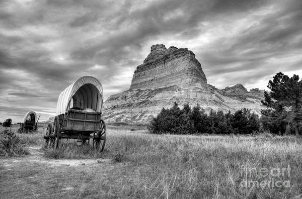 Photograph - On The Oregon Trail 2 Bw by Mel Steinhauer