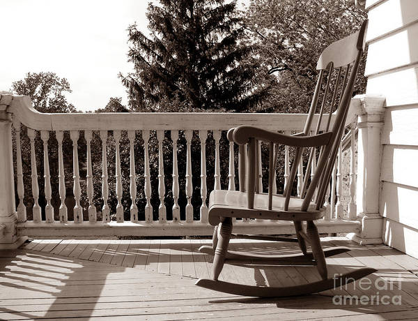 Rocking Chair Wall Art - Photograph - On The Porch by Olivier Le Queinec