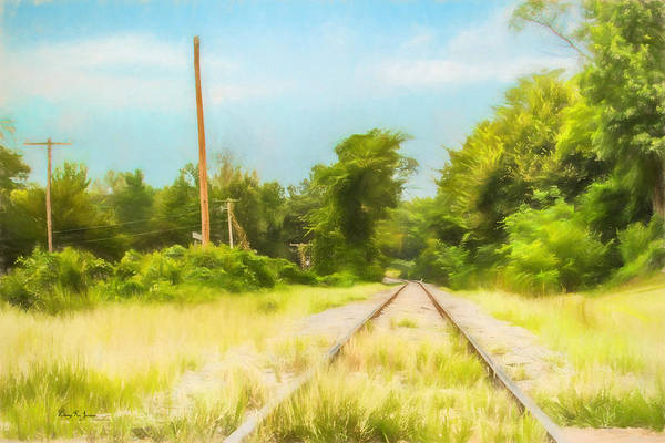 Photograph - Railroad - Landscape - On The Rails by Barry Jones