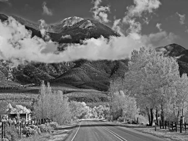 Photograph - On The Road Heading North From Taos New Mexico by Digital Photographic Arts