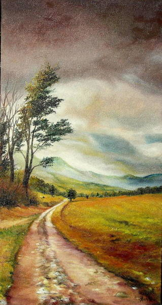 Acrilic Painting - On The Road by Sorin Apostolescu