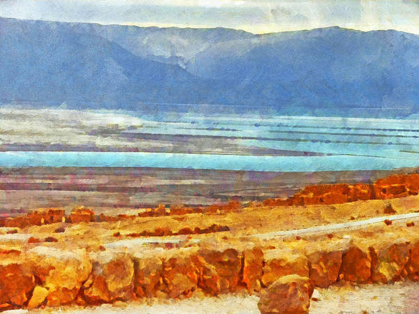 Digital Art - On The Road To Masada by Digital Photographic Arts