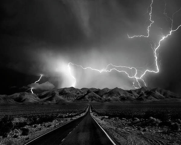 Electricity Photograph - On The Road With The Thunder Gods by Yvette Depaepe