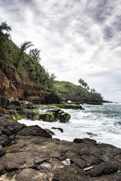 Photograph - On The Rocks At Secret Beach - Kilauea - Kauai - Hawaii by Belinda Greb