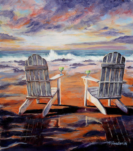 Wall Art - Painting - On The Rocks by Mary Giacomini