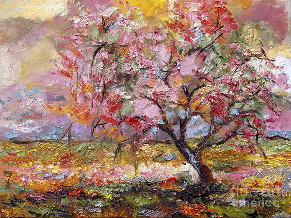 Painting - On The Way To Grandma There Is A Tree I Love Spring by Ginette Callaway