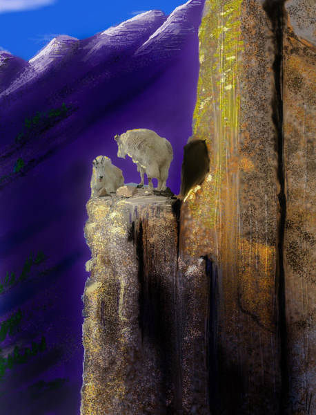 Colorado Wildlife Digital Art - On Top Of The World by J Griff Griffin