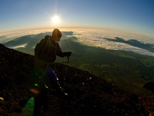 Mountain Climbing Photograph - On Top Of Things by Aaron Bedell