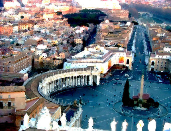 Apostolic Palace Wall Art - Digital Art - On Top Of Vatican 1 by Brian Reaves
