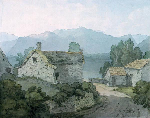 English Cottage Photograph - On Ullswater, Cumberland, 1791 Wc On Paper by John White Abbott