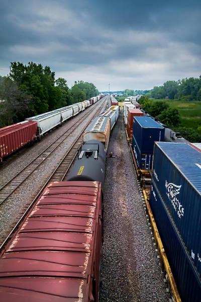 Photograph - Onalaska Train Yard by Ron Pate