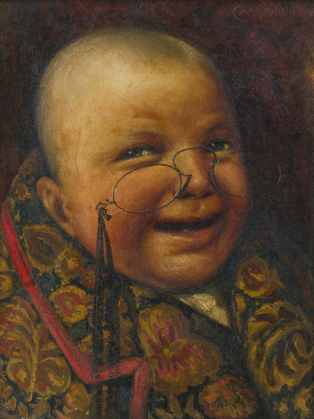 Coolidge Painting - Once A Man. Twice A Child by Cassius Marcellus Coolidge