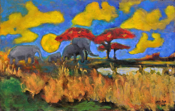 Painting - Once An Elephant by Dilip Sheth