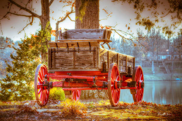 Photograph - Wagon - Rustic - Once Upon A Time Before Pickups by Barry Jones