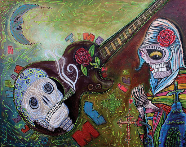 Wall Art - Painting - Once Upon A Time In Mexico by Laura Barbosa