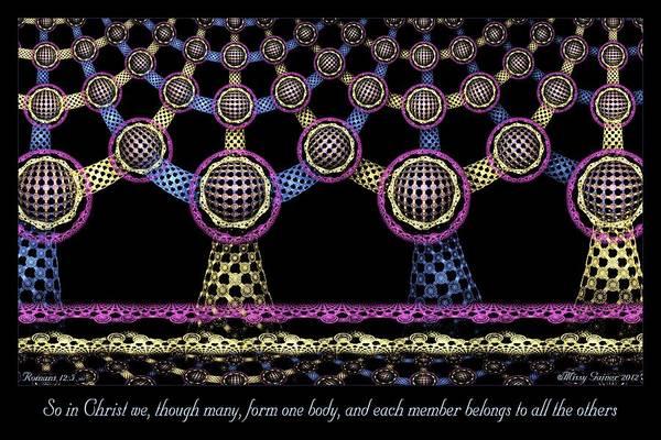 Digital Art - One Body by Missy Gainer