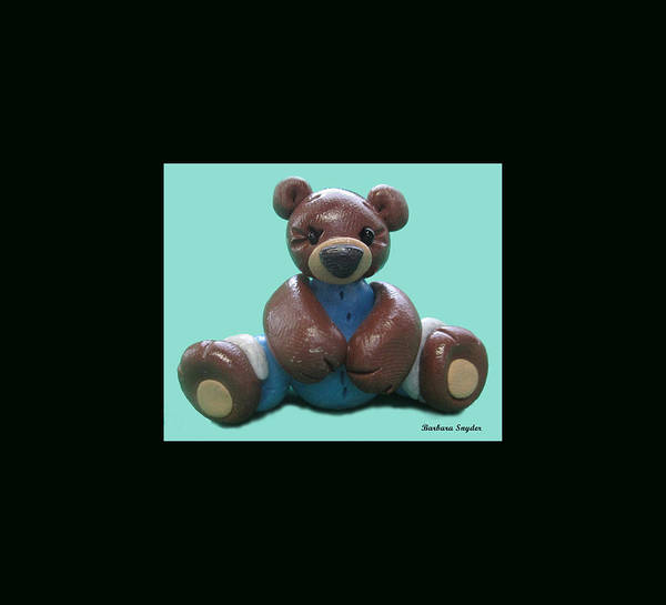 Painting - One Brown Bear Duvet by Barbara Snyder