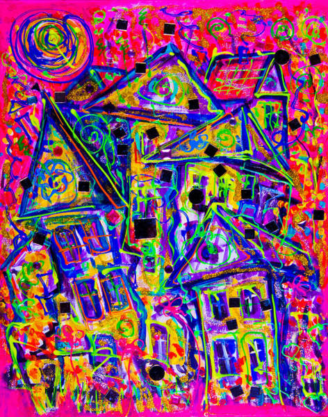 Painting - One Crazy House 2 by Maxim Komissarchik
