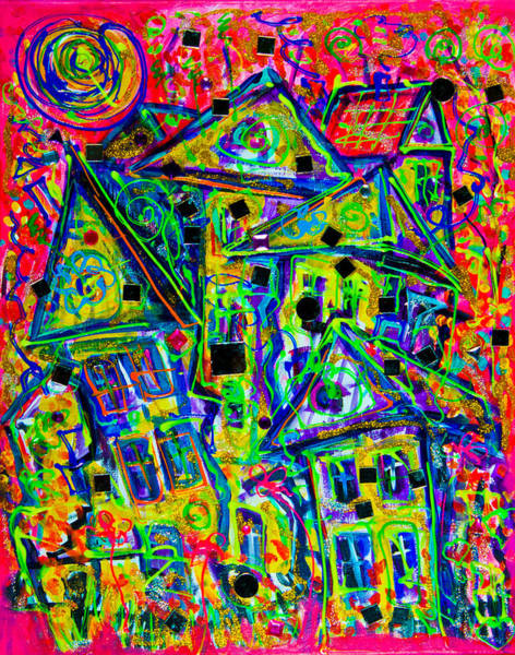 Painting - One Crazy House by Maxim Komissarchik