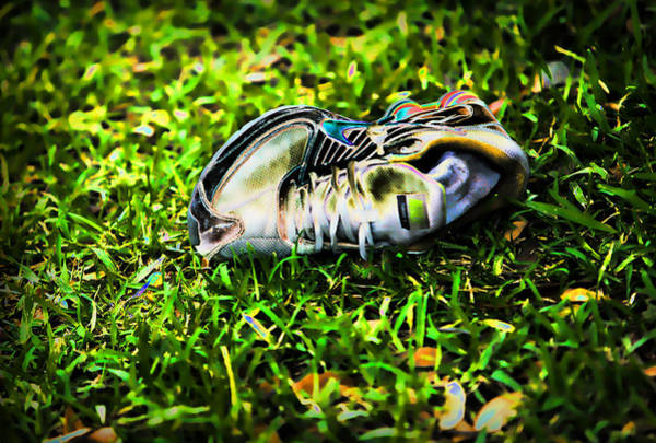 Solarized Photograph - One Dead Shoe by Linda Phelps
