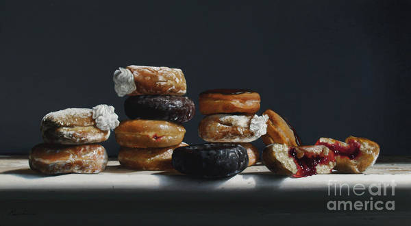 Wall Art - Painting - One Dozen Donuts by Lawrence Preston