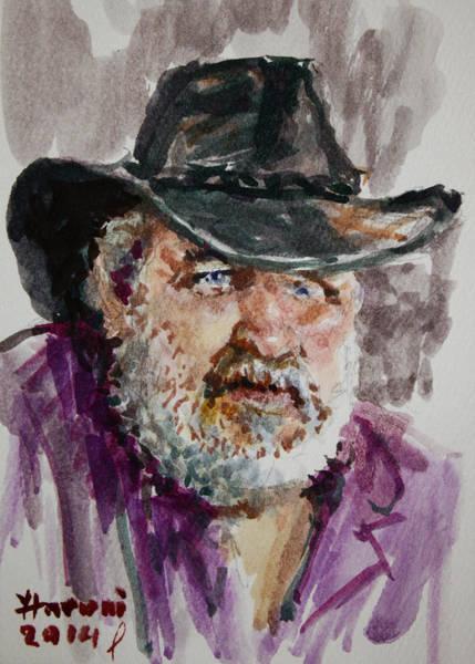 Eye Painting - One Eyed Cowboy  by Ylli Haruni