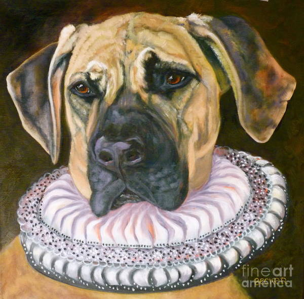 Painting - One Formal Pooch by Susan A Becker