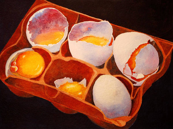 Broken Egg Painting - One Good Egg by Roger Rockefeller