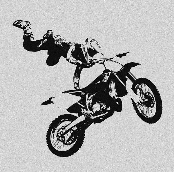 Dirt Bike Photograph - One Hand Show Off by David Lee Thompson