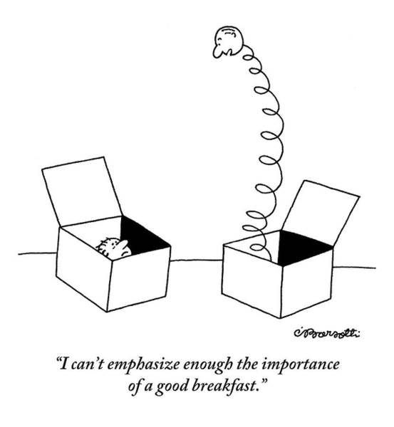 Breakfast Drawing - One Jack-in-the-box Addresses Another by Charles Barsotti
