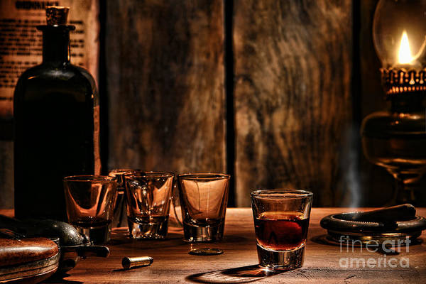 Frontier Photograph - One Last Drink by Olivier Le Queinec