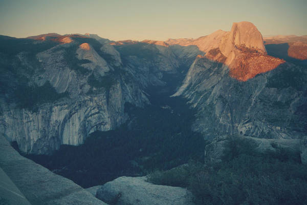 Yosemite Half Dome Wall Art - Photograph - One Last Show by Laurie Search
