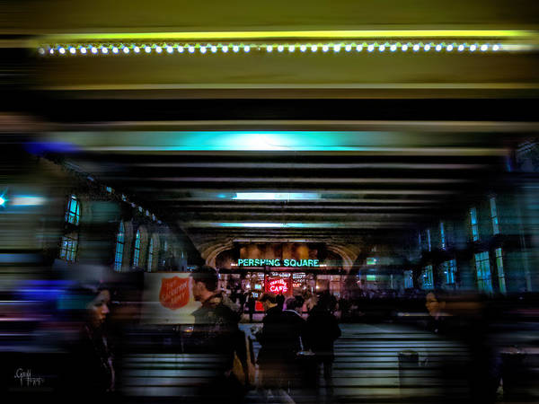 Photograph - One Light Out - Pershing Square by Glenn Feron