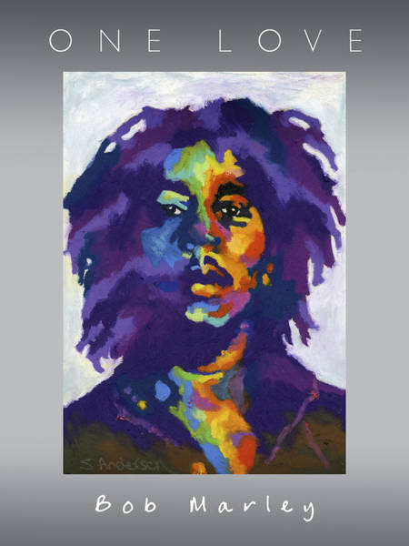 Rasta Painting - One Love by Stephen Anderson