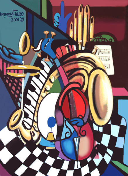 Painting - One Man Band by Anthony Falbo