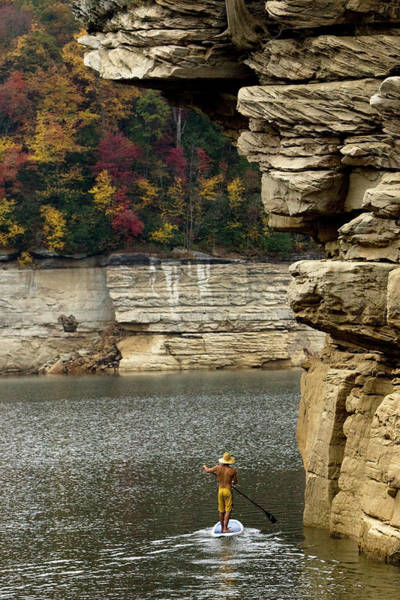 Fayetteville Photograph - One Man Stand Up Paddleboarding by Trevor Clark